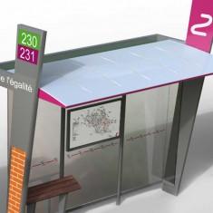 Un nouveau mobilier urbain pour le réseau Arc En Ciel