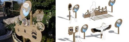Signalétique pédagogique – Zoo de Mardyck