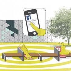 «Pause», un banc connecté aux réseaux sociaux