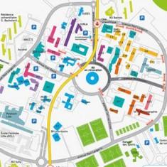 Signalétique piétonne et déplacements doux pour le campus Lille 1