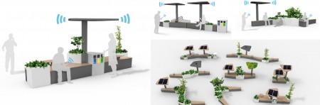 Gamme mobilier urbain connecté