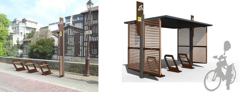 mobilier urbain abris vélos