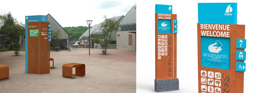 R alisations bureau d 39 tude signal tique design urbain for Panneau signaletique exterieur