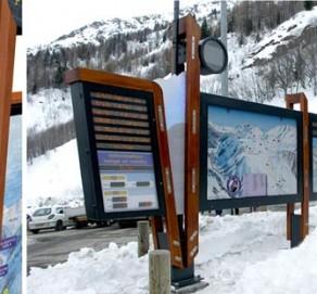 Mobilier d'information dynamique – Compagnie du Mont Blanc