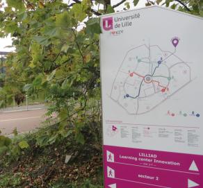 Signalétique piétonne  du campus Cité Scientifique – Université de Lille