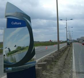 Signalétique terminal ferry à Dunkerque