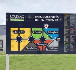 Signalétique Parc d'Activités – Cideral/ Loudéac