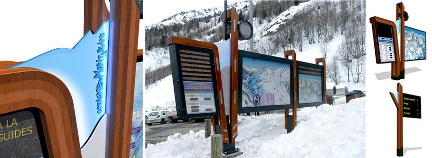 panneaux touristiques Mont Blanc