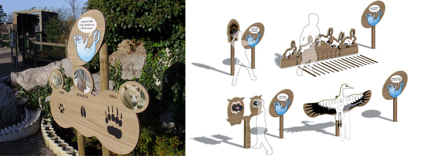 signalétique zoo Mardyck